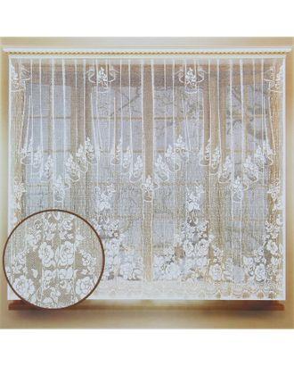 Штора кухонная 290х170 см, белый, 100% п/э, шторная лента арт. СМЛ-24700-1-СМЛ0740202