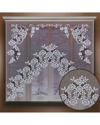 Штора 155х170 см, белый, 100% п/э, без шторной ленты арт. СМЛ-24704-1-СМЛ0740210