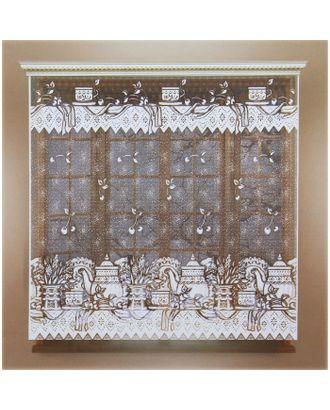 Штора без шторной ленты, ширина 170 см, высота 165 см, цвет белый арт. СМЛ-24705-1-СМЛ0740212