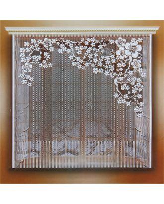 Штора 170х165 см, белый, 100% п/э, без шторной ленты арт. СМЛ-29475-1-СМЛ0740214