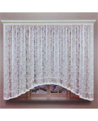 Штора со шторной лентой, ширина 320 см, высота 160 см, цвет белый арт. СМЛ-24711-1-СМЛ0740223