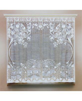 Штора кухонная без шторной ленты, ширина 170 см, высота 160 см, цвет белый арт. СМЛ-24712-1-СМЛ0740224