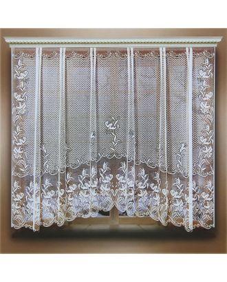 Штора кухонная 245х165 см, белый, 100% п/э, шторная лента арт. СМЛ-24716-1-СМЛ0740252