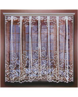 Штора кухонная 265х165 см, белый, 100% п/э, шторная лента арт. СМЛ-24719-1-СМЛ0740259