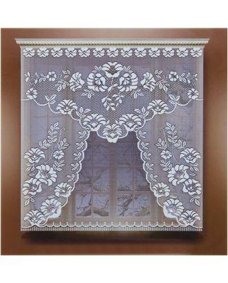 Штора 110х120 см, белый, 100% п/э, без шторной ленты арт. СМЛ-24722-1-СМЛ0740264