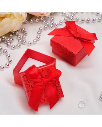 """Коробочка подарочная под кольцо """"Блестящие сердца"""", 5*5 (размер полезной части 4,5х4,5см) арт. СМЛ-20431-2-СМЛ0784772"""