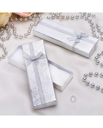 """Коробочка подарочная под цепочку/кулон """"Слиток"""" 12*4 (размер полезной части 11,5х3,5см) арт. СМЛ-20430-1-СМЛ0784775"""