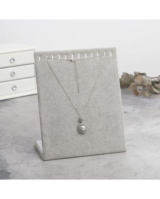 Подставка для кулонов, цепочек, браслетов, 12 крючков 20*9*25,5 см, бархатная, цвет чёрный арт. СМЛ-19934-2-СМЛ0797560