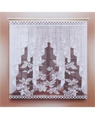 Штора 170х160 см, белый, 100% п/э, без шторной ленты арт. СМЛ-24984-1-СМЛ0830974