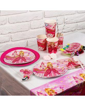 Набор бумажной посуды «Праздник принцессы», на 6 персон арт. СМЛ-103325-1-СМЛ0000856622