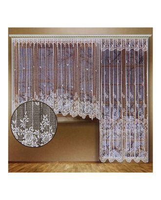 Комплект штор со шторной лентой (занавеска для окна 340х165 см; занавеска для балконной двери 170х250 см), цвет белый арт. СМЛ-25042-1-СМЛ0861568