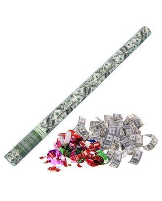 Пневмохлопушка «Доллар», серпантин, бумага, доллары, 80 см арт. СМЛ-103435-1-СМЛ0000873937
