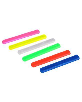 Браслет светоотражающий, 22 см, цвета МИКС арт. СМЛ-29535-1-СМЛ0953135