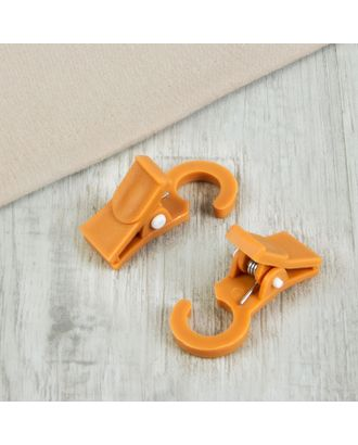Зажим для штор, на кольцо, 3,5 × 2 см арт. СМЛ-45-1-СМЛ0961745