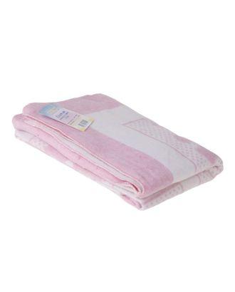 """Одеяло жаккардовое """"Барни"""", размер 100х140 см, хлопок, цвет белый/розовый арт. СМЛ-25338-1-СМЛ0972687"""