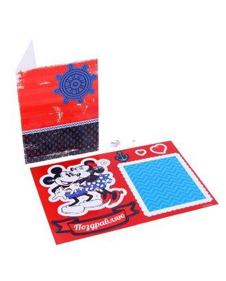 Открытка «Поздравляю», набор для создания, Микки Маус, 11х15 см арт. СМЛ-25353-1-СМЛ0976809