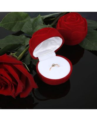 "Футляр под кольцо ""Роза крупная"", 5,5*5,5 арт. СМЛ-22062-1-СМЛ0097919"