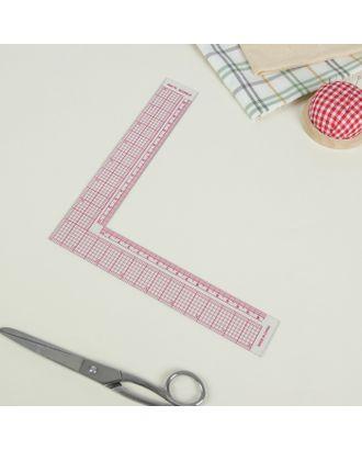 Линейка для кроя и шитья, 21,5 × 21,5 см, цвет прозрачный арт. СМЛ-25457-1-СМЛ0997778