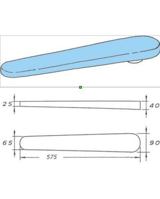 Колодка рукавная Comel AKN-03C 57,5 см арт. ТМ-3437-1-ТМ0652566