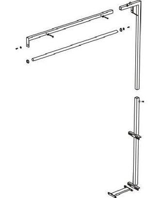 Подставка для подвеса утюга AKN-10B для столов серии MP/F, MP/A, MP/FC/A и MP/FC. арт. ТМ-489-1-ТМ0652993